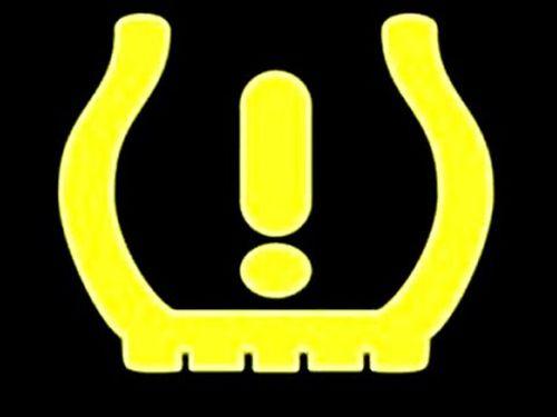 Значок падения давления в шинах
