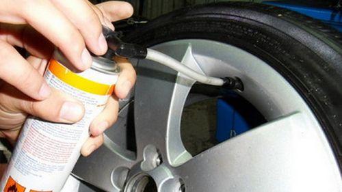 Ремонт шины герметиком