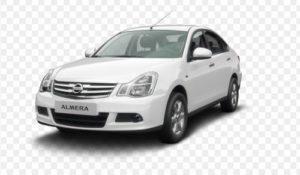 Белый автомобиль Ниссан Альмера